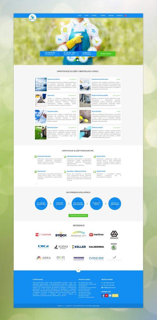 Tvorba web stránku a SEO optimalizácia pre SKcleaning